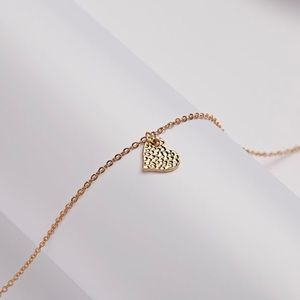 """⚡️2 for $15 Dainty Gold Tone """"I 🖤 You"""" Necklace"""